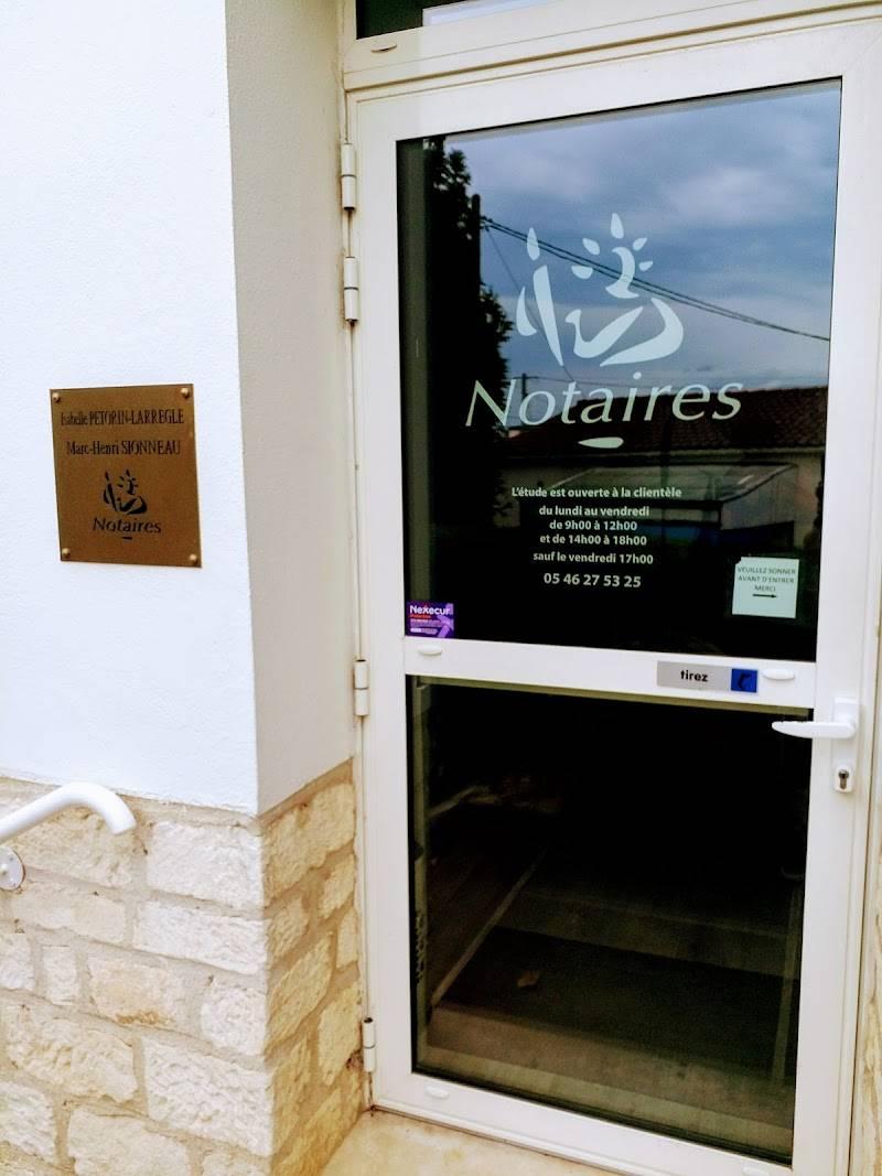 Notaires PETORIN LARREGLE SIONNEAU à AIGREFEUILLE D'AUNIS